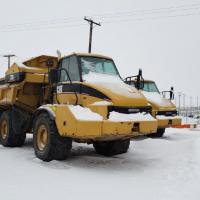 Used Cat 730 ejector rock truck for sale in SK