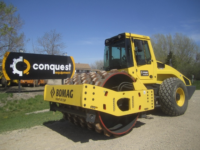 Bomag smooth drum roller for sale or rent in Western Canada