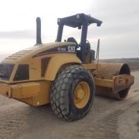 used Cat smooth drum packer for rent in Western Canada