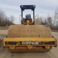 Cat smooth soil compactor for sale or rent in Western Canada and US