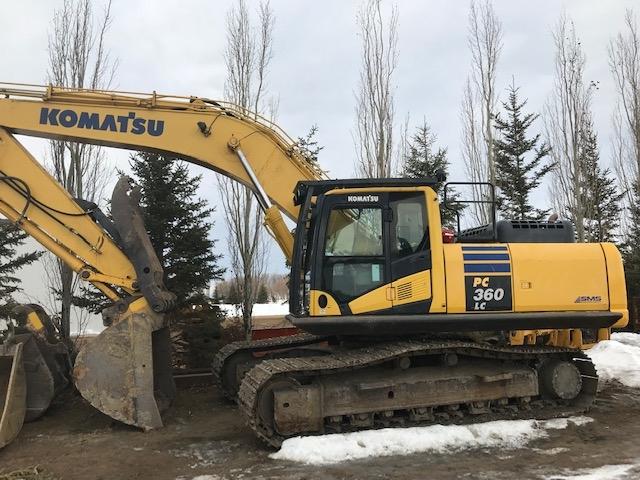 Used Komatsu PC360 excavators for sale in Alberta