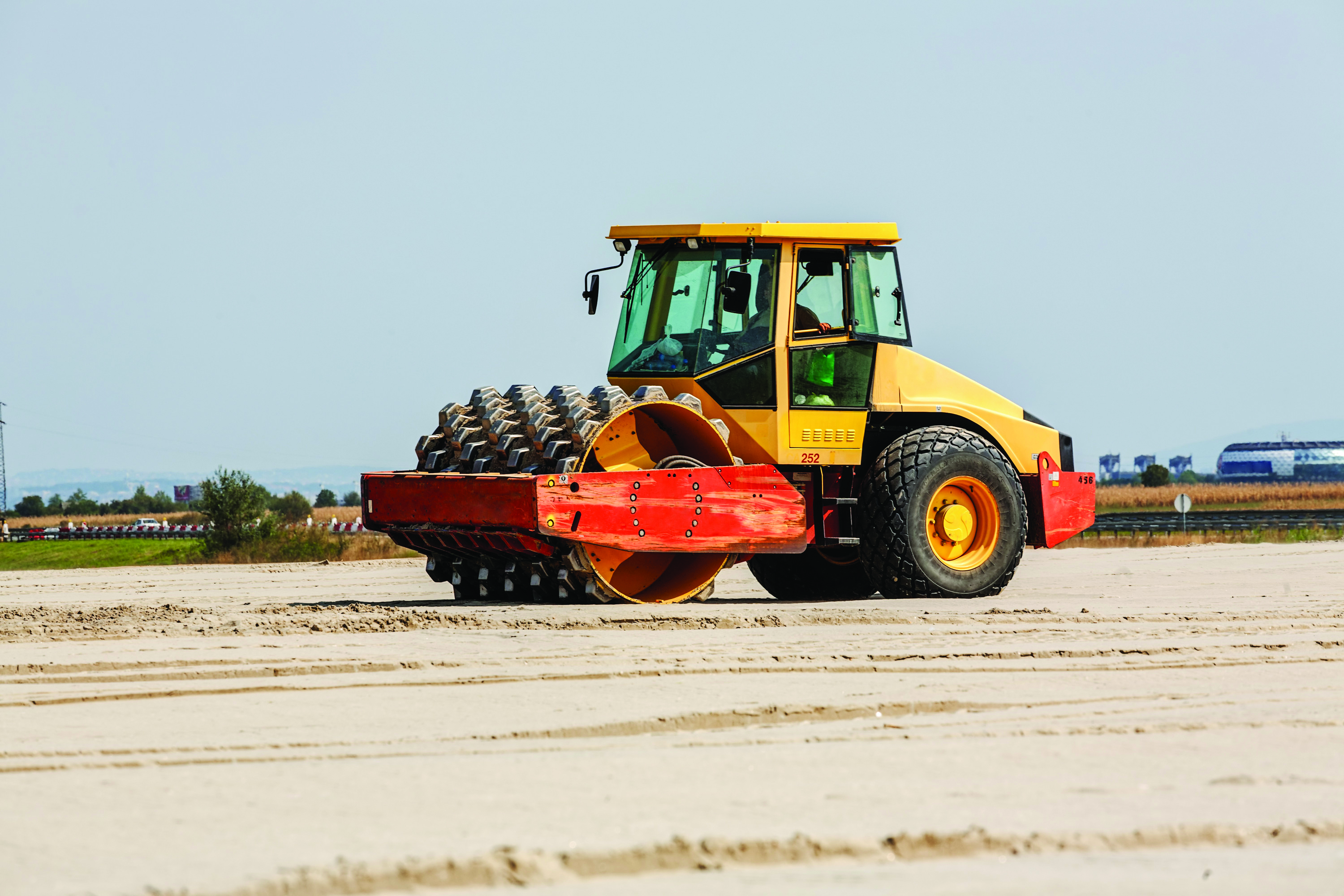 Smooth Wheel Roller. Soil compaction equipment.